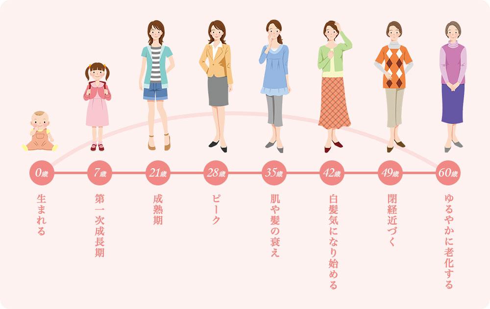 女性のカラダの変化